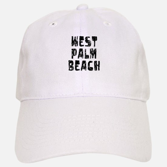 West Palm Be.. Faded (Black) Baseball Baseball Cap