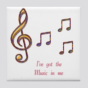Music In Me Tile Coaster