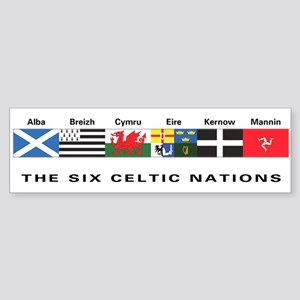 Celtic Nations Bumper Sticker