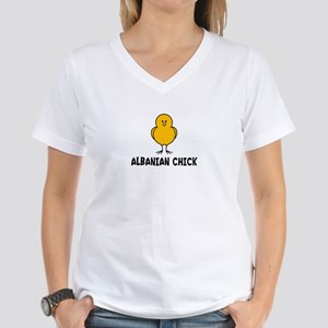 Albanian Women's V-Neck T-Shirt