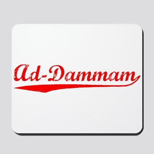 Vintage Ad-Dammam (Red) Mousepad