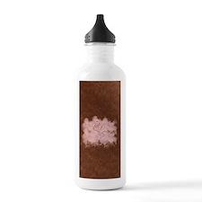 Pink Flamingo Cloud Monogram Water Bottle