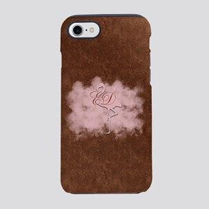Pink Flamingo Cloud Monogram iPhone 8/7 Tough Case