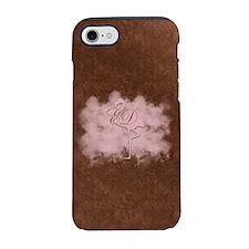 Pink Flamingo Cloud Monogram iPhone 8/7 Tough Case