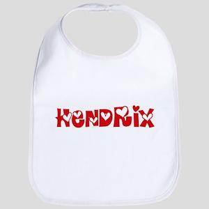 Hendrix Surname Heart Design Baby Bib