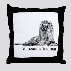 Yorkshire Terrier Dog Breed Throw Pillow