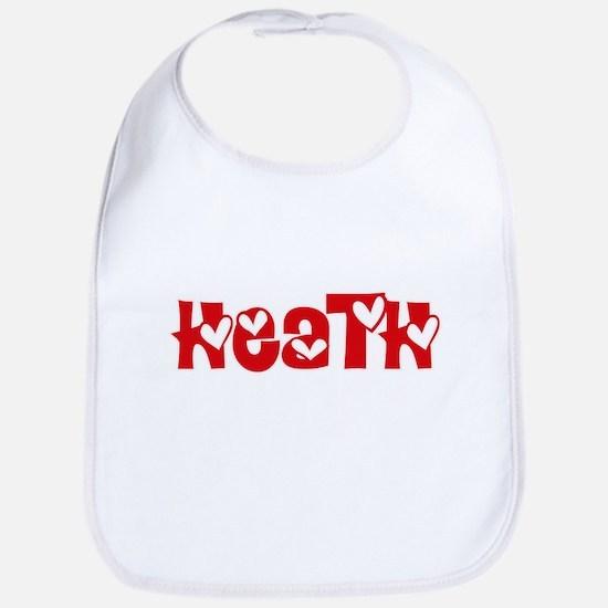 Heath Surname Heart Design Baby Bib