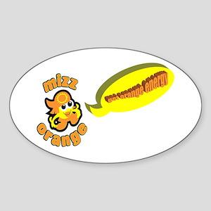 GET ORANGE ENERGY Oval Sticker