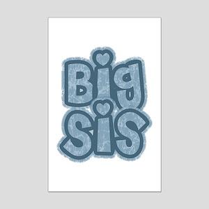 Big Sis - Blue Texturized Mini Poster Print
