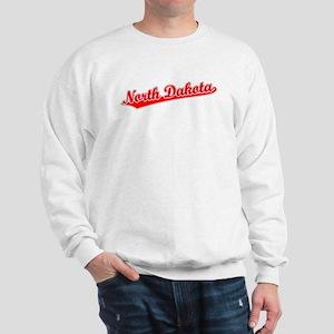 Retro North Dakota (Red) Sweatshirt