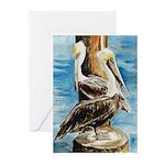 Brown Pelicans Greeting Cards (Pk of 10)