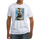Brown Pelicans Fitted T-Shirt