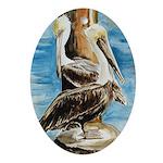 Brown Pelicans Keepsake (Oval)