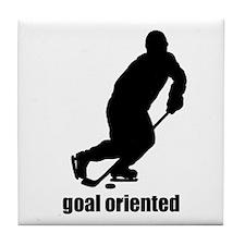 Goal Oriented Hockey Tile Coaster