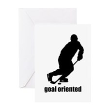 Goal Oriented Hockey Greeting Card
