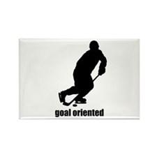 Goal Oriented Hockey Rectangle Magnet