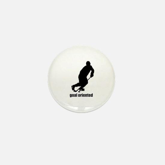 Goal Oriented Hockey Mini Button