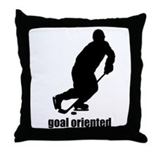 Goal Oriented Hockey Throw Pillow