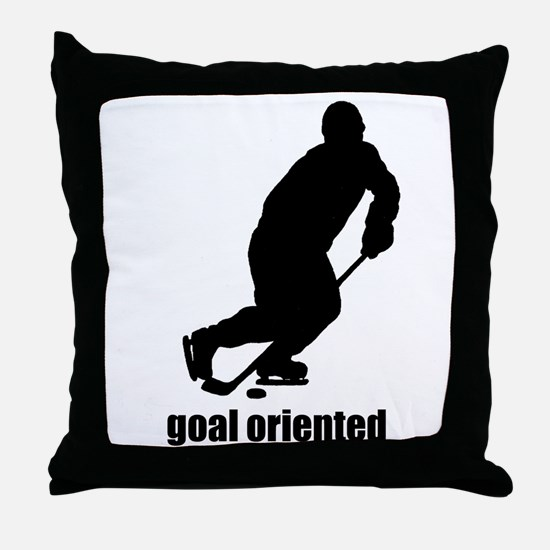 Goal Oriented Hockey Throw Pillow