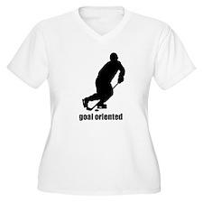 Goal Oriented Hockey Women's Plus Size V-Neck T-Sh