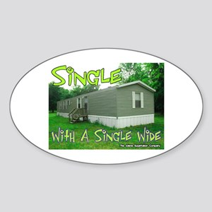 Single With a Single Wide Oval Sticker