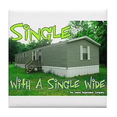 Single With a Single Wide Tile Coaster