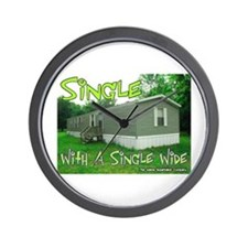 Single With a Single Wide Wall Clock