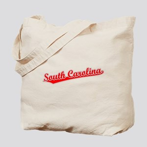 Retro South Carolina (Red) Tote Bag