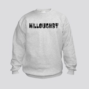 Willoughby Faded (Black) Kids Sweatshirt