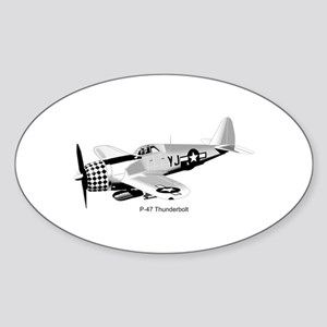 P-47 Thunderbolt Oval Sticker