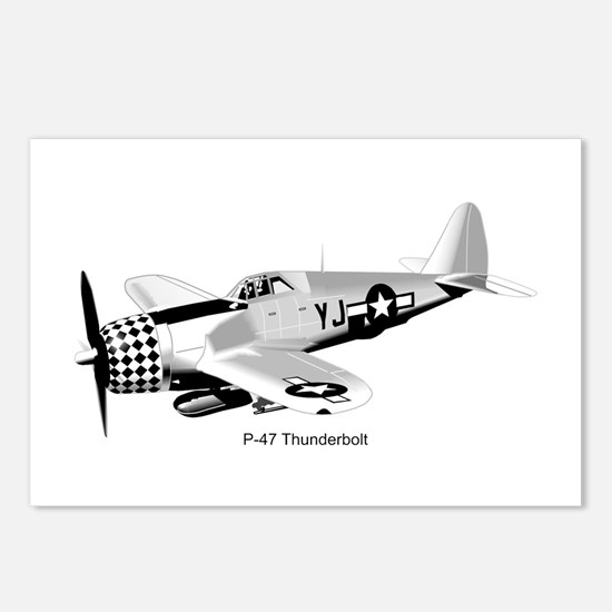 P-47 Thunderbolt Postcards (Package of 8)