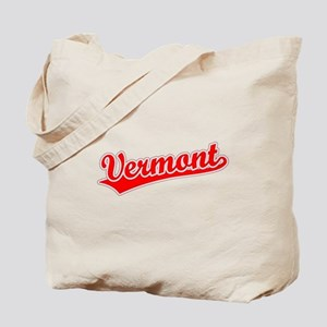 Retro Vermont (Red) Tote Bag