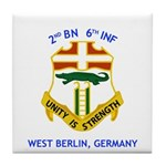 2nd BN 6th INF Gear Tile Coaster