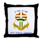 2nd BN 6th INF Gear Throw Pillow