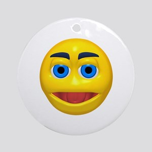 What Ever Face Ornament (Round)