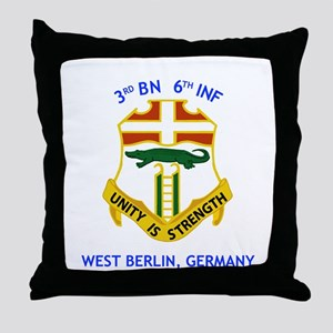 3rd BN 6th INF Throw Pillow