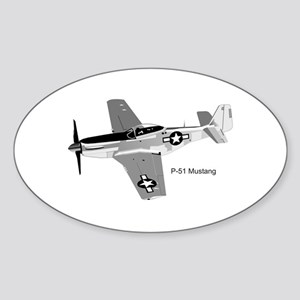 P-51 Mustang Oval Sticker
