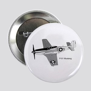 "P-51 Mustang 2.25"" Button"