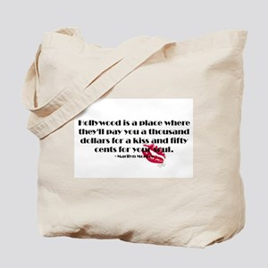 Marilyn Quote Hollywood Tote Bag