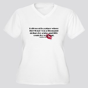Marilyn Quote Hollywood Women's Plus Size V-Neck T