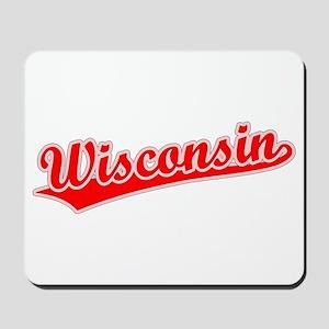 Retro Wisconsin (Red) Mousepad