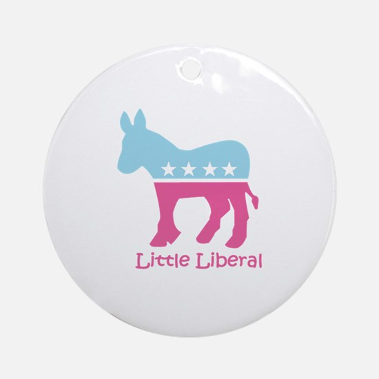 Little Liberal - Girly Ornament (Round)