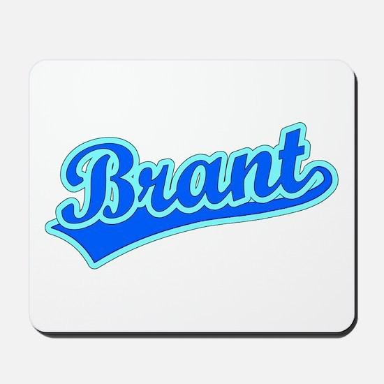 Retro Brant Blue Mousepad