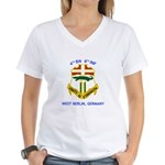 4th BN 6th INF Women's V-Neck T-Shirt
