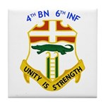 4th BN 6th INF Tile Coaster