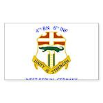 4th BN 6th INF Rectangle Sticker 50 pk)