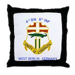4th BN 6th INF Throw Pillow