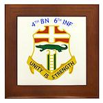 4th BN 6th INF Framed Tile