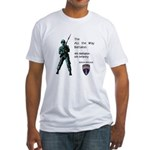 4th BN 6th INF Fitted T-Shirt
