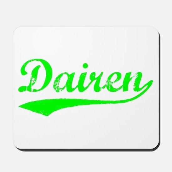 Vintage Dairen (Green) Mousepad